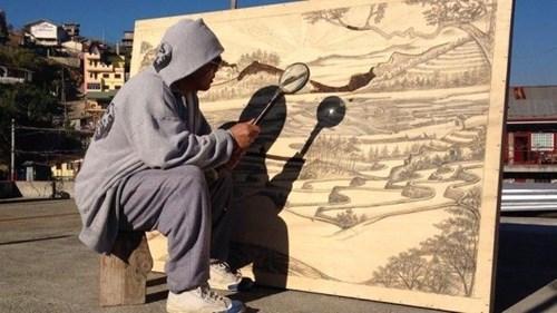 Jordan Mang-osan Makes Landscapes Using Just a Magnifying Glass and the Sun
