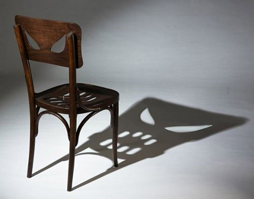 This Ordinary Chair Casts a Spooky Shadow