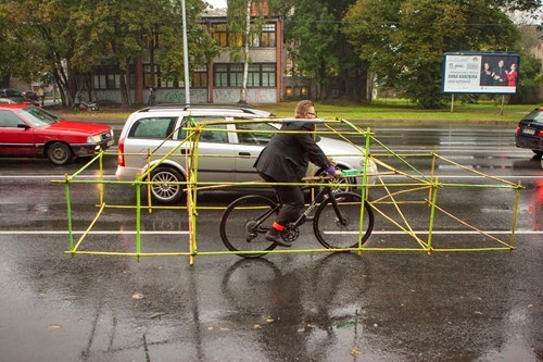One Cyclist Has Had Enough of Dealing With Cars in His Grill