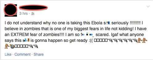 For the Record, Ebola =/= Zombies