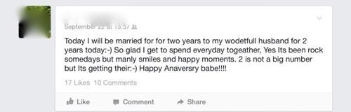 anniversary,grammar,marriage,spelling