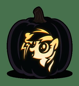 Rainbow Dash Pumpkin Pattern