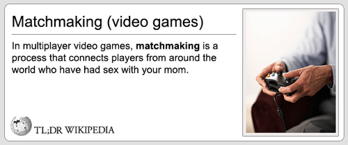 The Matchmaking in Video Games is Not Random