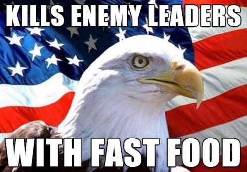 kim jong-un,eagles,murica eagle,McDonald's,North Korea,fast food
