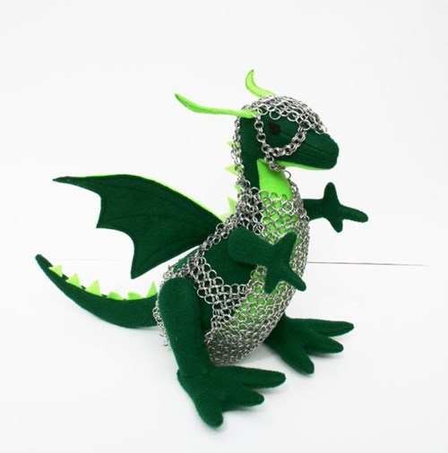 Look at This Adorable Chainmail Wearing Dragon