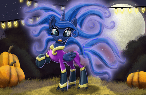 Luna Is a Power Ponies Fan