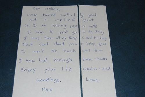 So Is it a Breakup Letter