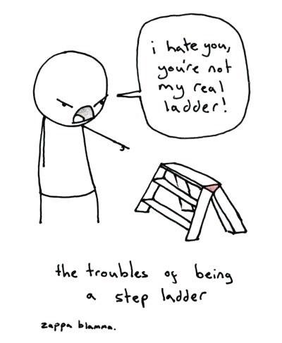 puns,ladders,sad but true,family,step ladder,web comics