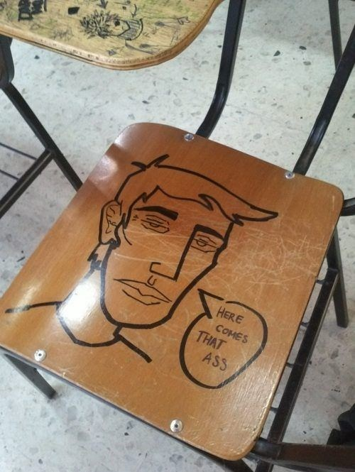 art,booty,desk,funny,g rated,School of FAIL