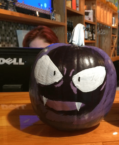 Gastly is a Perfect Choice for a Pumpkin This Halloween