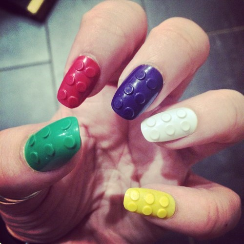 lego,nails,manicure,win,nail art,poorly dressed