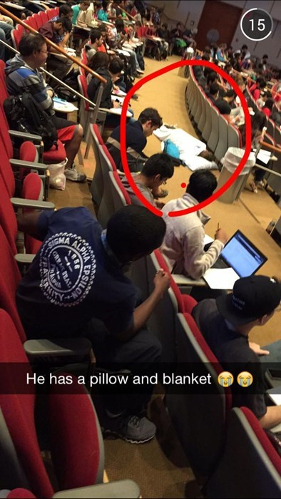 Who Needs Subtlety When You're Sleeping During Lecture