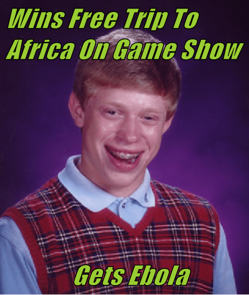 Wins Free Trip To Africa On Game Show                Gets Ebola