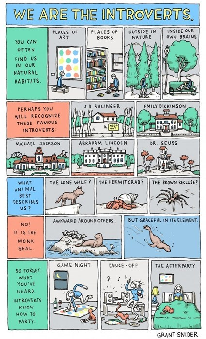 A Comic Explaining The World of The Introverts