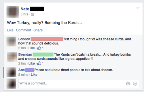 Now is Not the Time for Food Puns