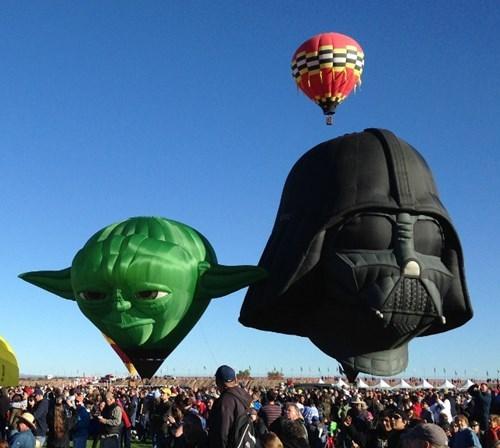 star wars,Hot Air Balloon,nerdgasm,yoda,g rated,win,scifi