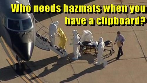 Who needs hazmats when you have a clipboard?
