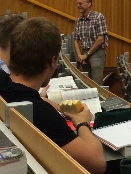 You Know What's a Good Lecture Snack? A Block of Cheese!