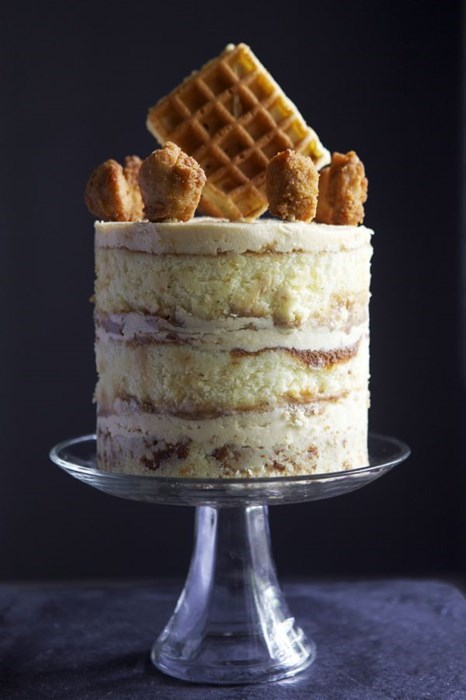 Chicken, Waffles, and Cake. What More Could You Want?