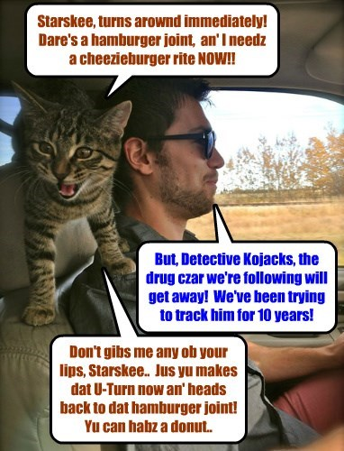In hot pursuit of the Drug Czar, Detective Kojacks makes an important tactical decision..