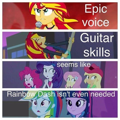 rainbow dash,sunset shimmer,rainbow rocks