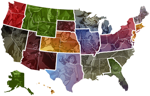 Favorite Superhero by State