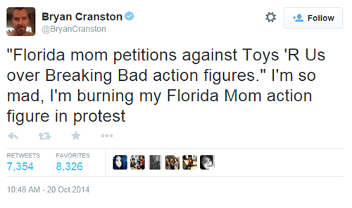 "Some Parents Are Unhappy About ""Breaking Bad"" Toys in Stores, Bryan Cranston Weighs in"
