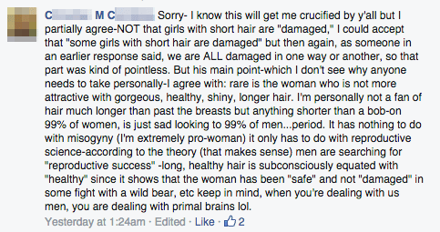 You Heard it Here First: Men Are Terrified of Short-Haired Women