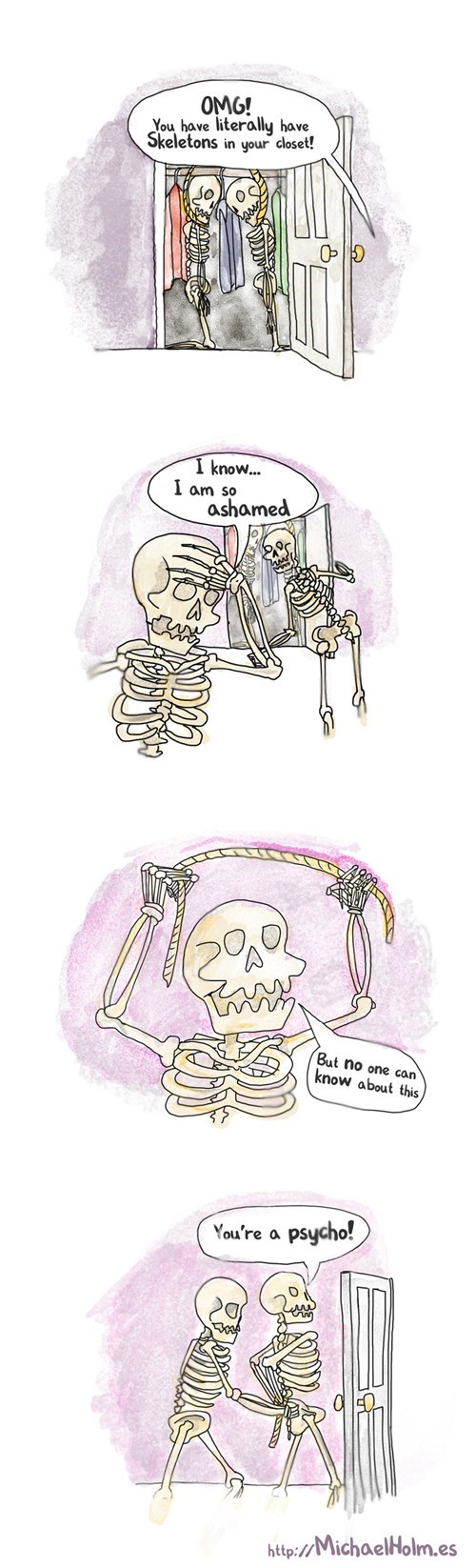 halloween,puns,skeleton war,skeletons,web comics
