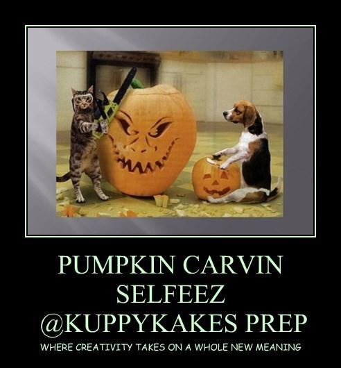PUMPKIN CARVIN SELFEEZ  @KUPPYKAKES PREP