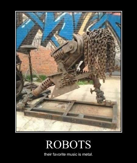 metal,Music,robots,sculpture,techno
