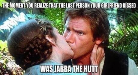 Han Solo,funny,kissing,Princess Leia,g rated,dating