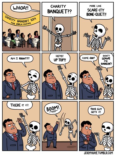puns,ebola,skeletons,web comics