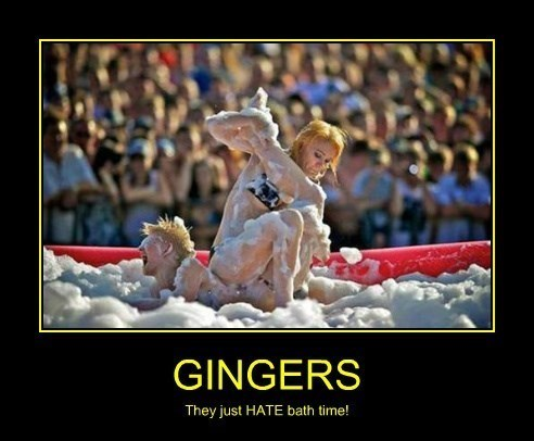 bath,funny,gingers