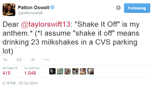 "Not Even Patton Oswalt Can Resist the Charms of ""Shake it Off"""