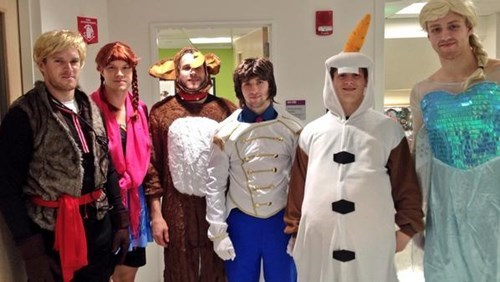 Feel Good Story of the Day: Boston Bruins Players Dress Up Like Frozen Characters for Sick Kids