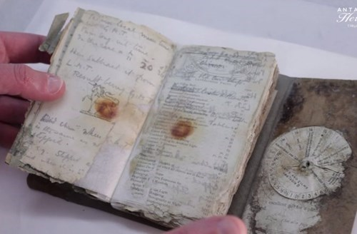 A 100 Year-Old Notebook Found From Unearthed Antarctic Expedition.