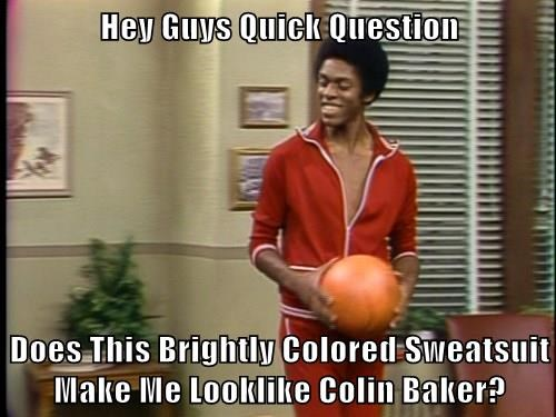 Hey Guys Quick Question  Does This Brightly Colored Sweatsuit Make Me Looklike Colin Baker?