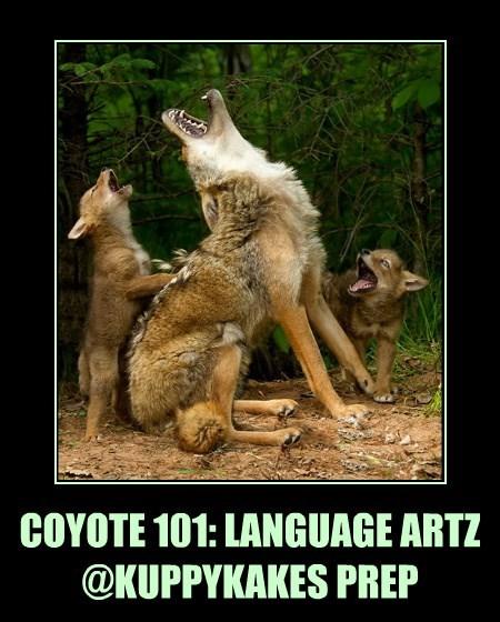 COYOTE 101: LANGUAGE ARTZ @KUPPYKAKES PREP                    2