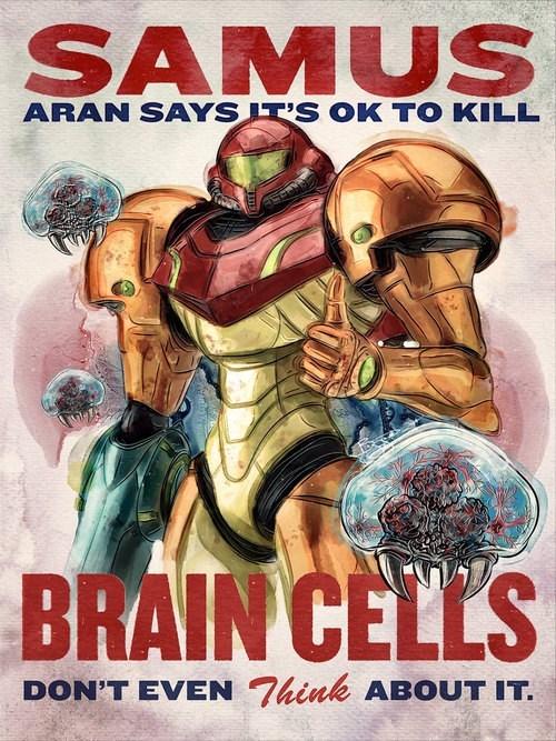 samus,Metroid,brain cells