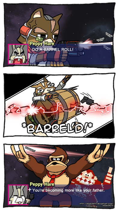 donkey kong,Fan Art,Star Fox,super smash bros,web comics