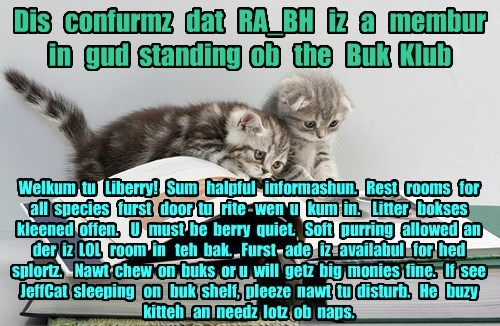 Offishul JeffCatsBookClub Memburship Kard for RA_BH
