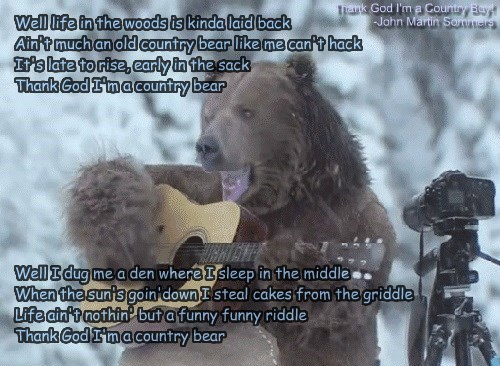 Thank God I'm a Country Bear!