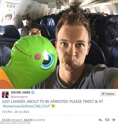 Vine Star Jerome Jarre Tried to Fly Wearing Only a Speedo, Then This Happened