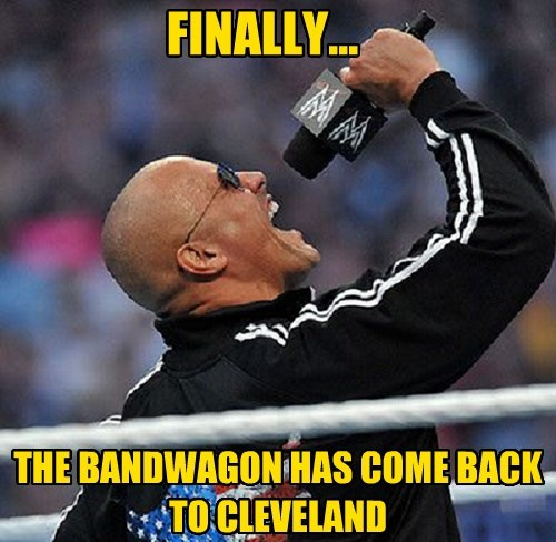 The Cleveland Cavaliers bandwagon is back!