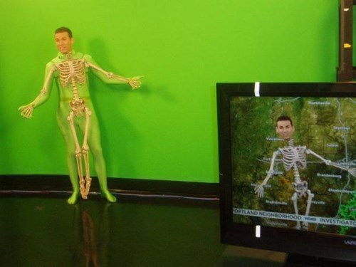 Trick of the Day: Weatherman Does Forecast as Skeleton