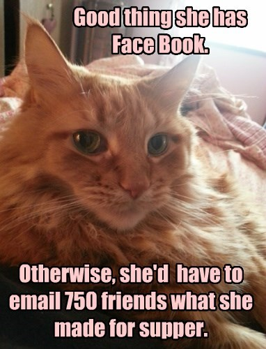 Good thing she has Face Book.