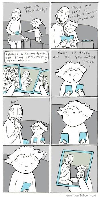 pizza,memories,parenting,web comics