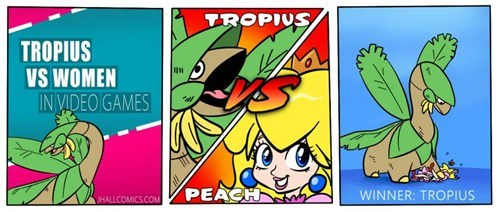 Pokémon,princess peach,tropes vs women,tropius