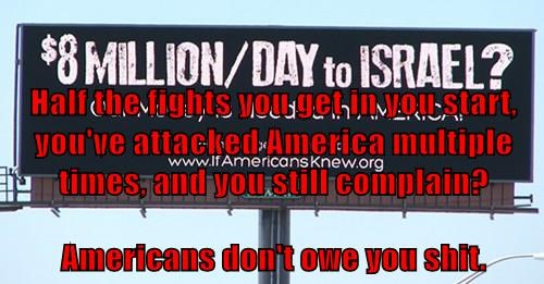 Half the fights you get in you start, you've attacked America multiple times, and you still complain? Americans don't owe you sh*t.
